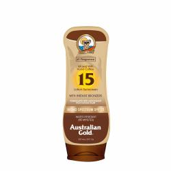 SPF 15 Sunscreen Lotion with Bronzers