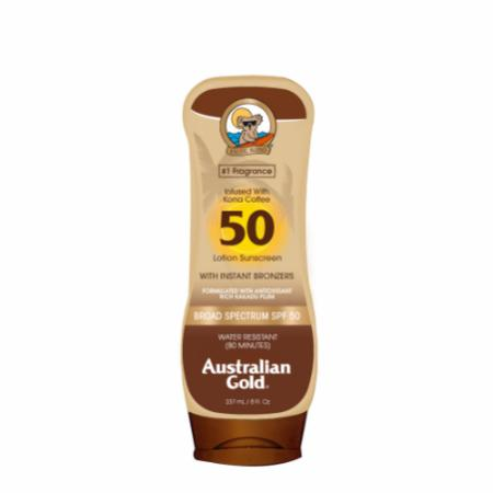 SPF 50 Sunscreen Lotion with Bronzers