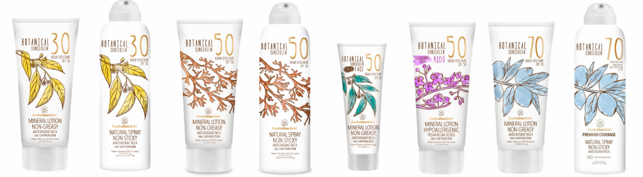 The Complete Full Collection of Botanical Sunscreens