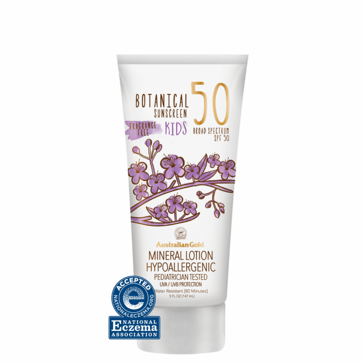 Botanical SPF 50 Kids Sunscreen Mineral Lotion Product Image